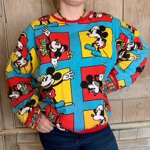 Vintage | Mickey Cartoon Pullover Sweater
